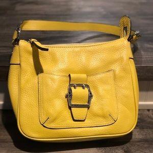 FRANCO SARTO Lemon Yellow Leather bag.